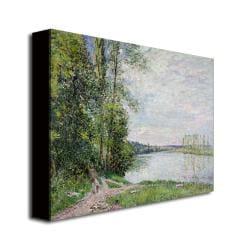 Alfred Sisley 'The Riverside Road from Veneux' Medium Canvas Art - Thumbnail 1