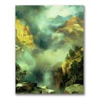 Thomas Moran 'Mist in the Canyon' Medium Canvas Art