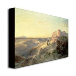 Thomas Moran 'Red Rock Trail, South Utah' Canvas Art - Thumbnail 1