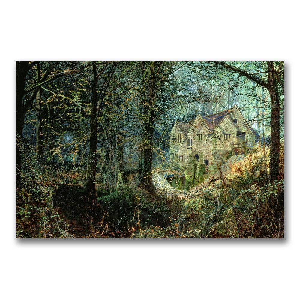 John Grimshaw 'Autumn Glory, The Old Mill' Canvas Art