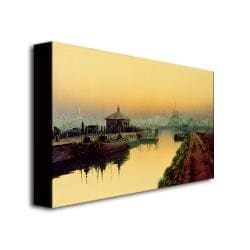 John Grimshaw 'Knostrop Cut, Leeds, Sunday Night' Canvas Art