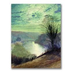 John Grimshaw 'On the Tees, Near Barnard Castle' Canvas Art