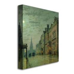 John Grimshaw 'Park Row, Leeds' Canvas Art - Thumbnail 1