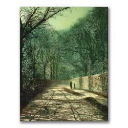 John Grimshaw 'Tree Shadows in the Park Wall' Vertical Canvas Art