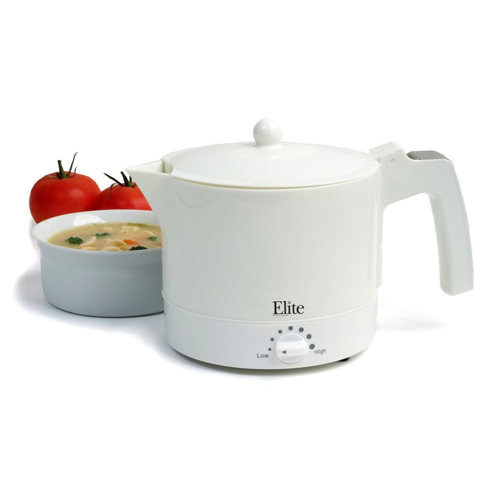 Elite Systems Maxi Matic White 32-ounce Electric Hot Pot