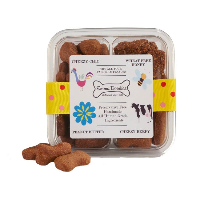 Emma Doodles All-natural Peanut Butter Dog Treats Sampler Box