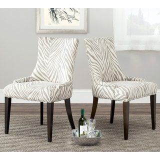 Safavieh En Vogue Dining Becca Zebra Grey Side Chair