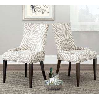 Safavieh Parsons Dining Becca Zebra Grey Side Chair