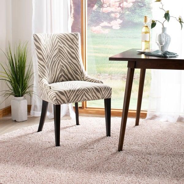 Safavieh Parsons Dining Becca Zebra Grey Dining Chair