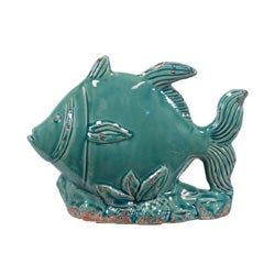 Decorative Blue Ceramic Fish