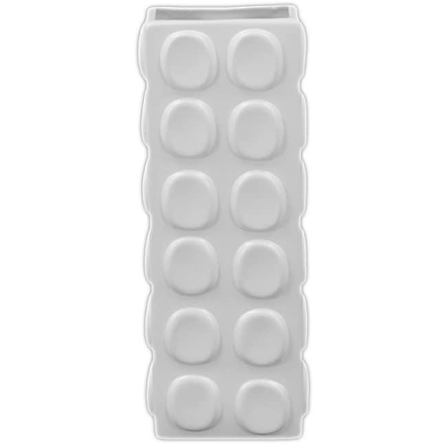 White 13-inch Ceramic Vase