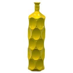 Large Yellow Ceramic Bottle