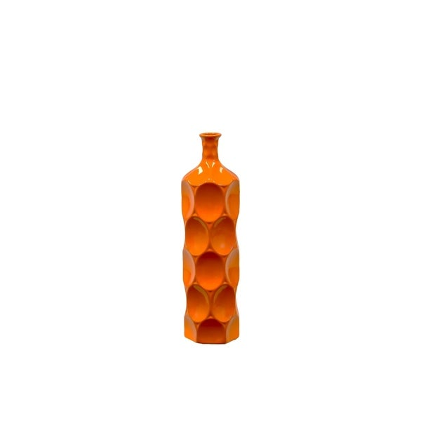 Medium Orange 18-inch Ceramic Bottle
