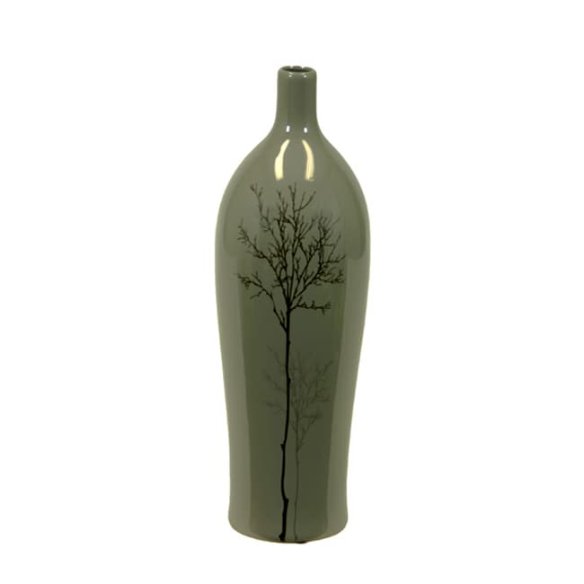 Shop Grey Small Shinny 18 Inch Ceramic Vase Free Shipping Today