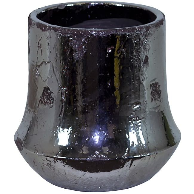 Urban Trend Black Planter Ceramic Vase