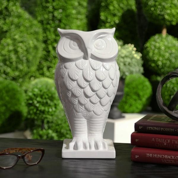 Ceramic Owl Vase. Opens flyout.