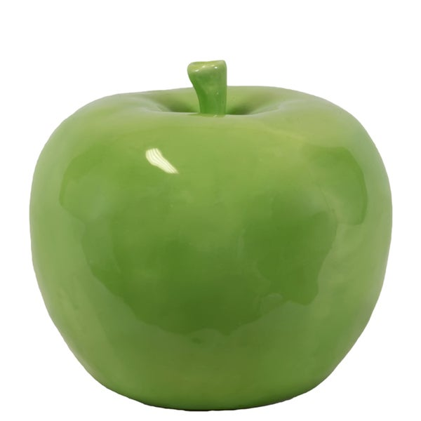 Shop Large Ceramic Green Apple Free Shipping On Orders