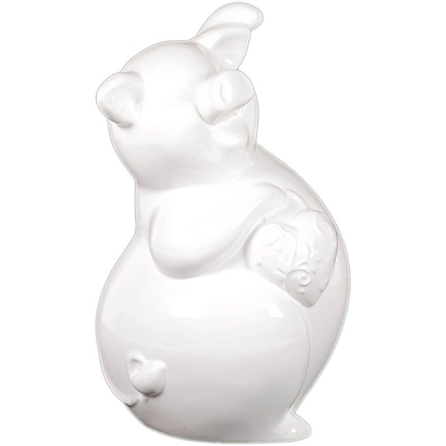 Ceramic Piggy Bank White