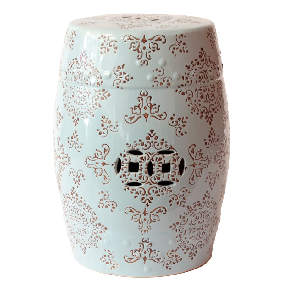 Ceramic Garden Stool Blue And White Free Shipping Today 14505600