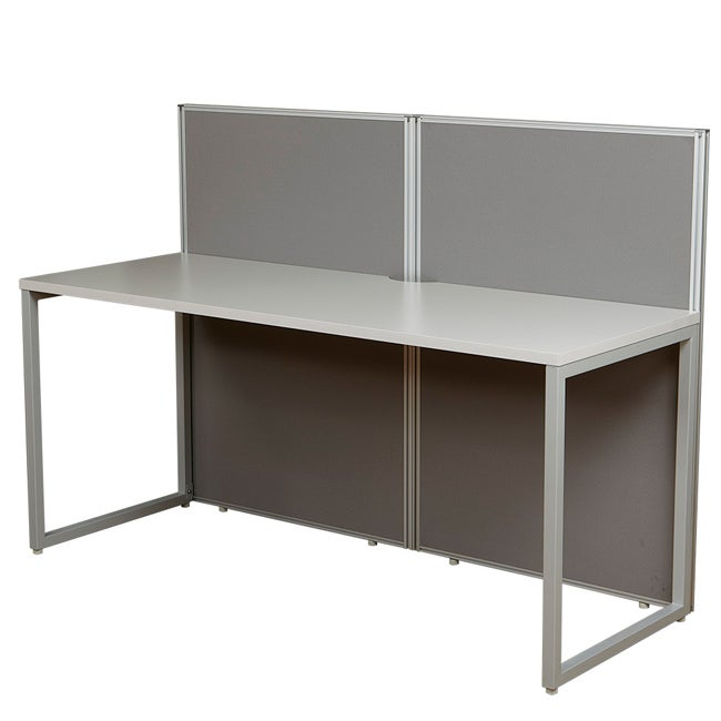 The Box Office Bench Style Workstation with 2 Panels