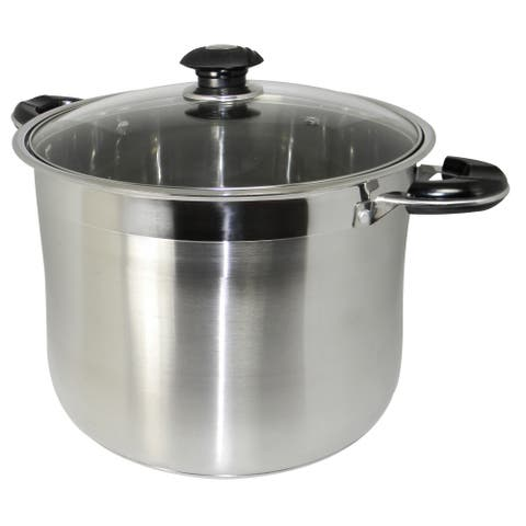 Prime Pacific 18/10 Stainless Steel 20-quart Heavy-duty Gourmet Tri-ply Stockpot