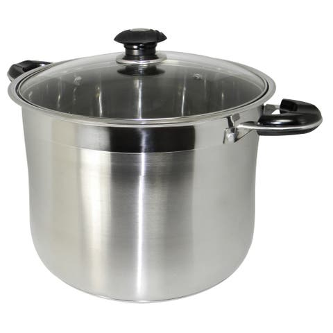 Prime Pacific 20-quart Heavy-duty Stainless Steel Gourmet Tri-Ply Stockpot
