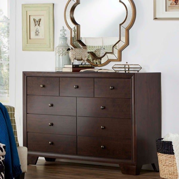Louisburgh Dark Merlot 9-drawer Dresser by TRIBECCA HOME