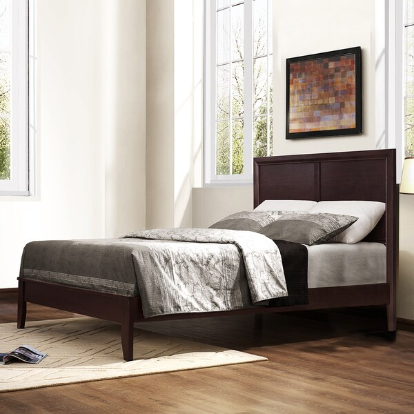 TRIBECCA HOME Louisburgh Dark Merlot Wood Queen-size Platform Bed