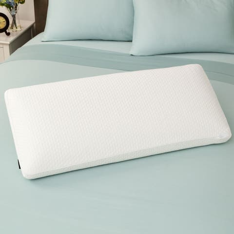 SwissLux Euro Style Luxury King-size Memory Foam Pillow - White