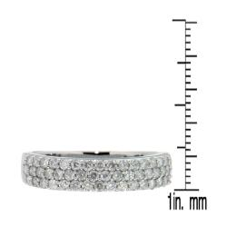 D'sire 10k White Gold 5/7ct TDW Pave Diamond Ring (H-I, I2-I3) - Thumbnail 2