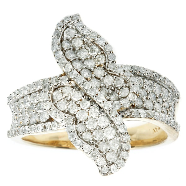 D'sire 10k Yellow Gold 1ct TDW Diamond Ring (H-I, I2-I3)