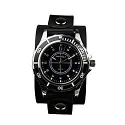 Nemesis Women's Bella Black Leather Strap Watch