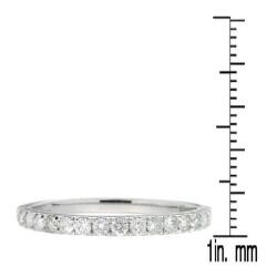 D'sire 10k White Gold 2/5ct TDW Diamond Wedding Ring (H-I, I2-I3) - Thumbnail 2