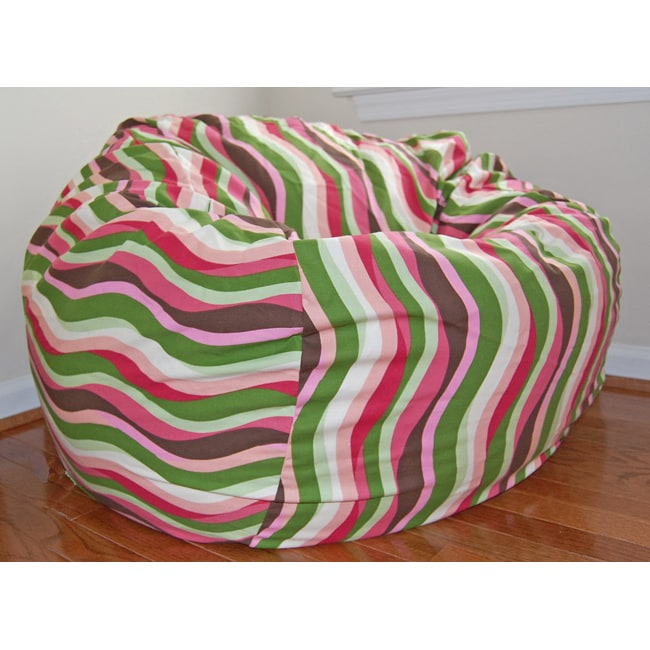 Ahh Products 36-Inch Wide Wavelength Guava Cotton Washable Bean Bag Chair