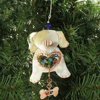 Handmade Puppy Mixed Metals Ornament (Thailand)