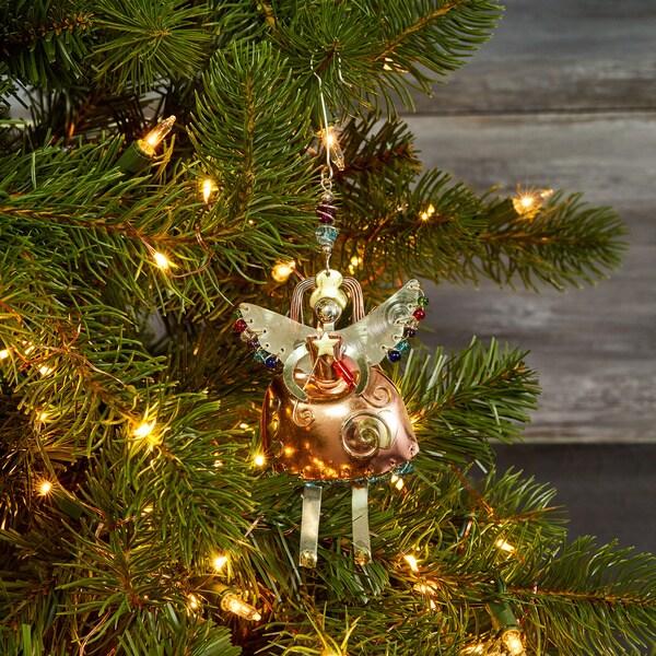 Handmade Bella Angel Mixed Metals Ornament (Thailand)