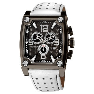 Akribos XXIV Men's Water-Resistant Swiss-Quartz Chronograph White Watch