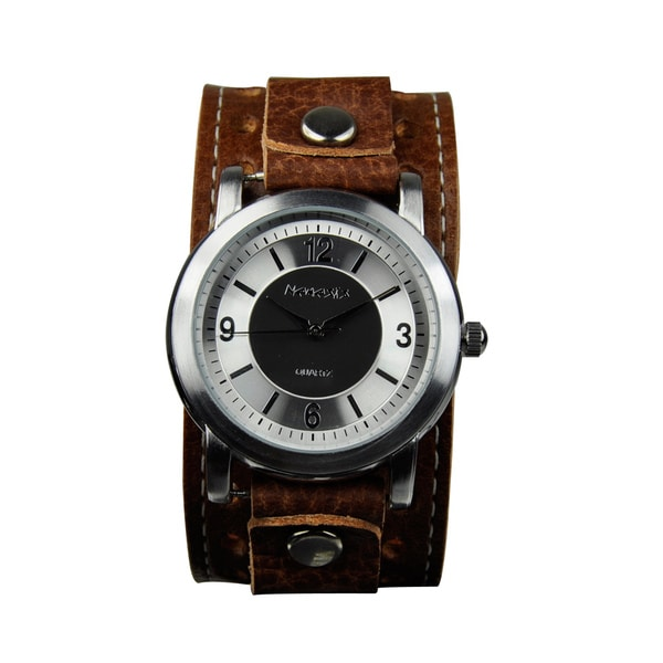 Nemesis Men's Retro Leather-Strap Japanese-Quartz Watch