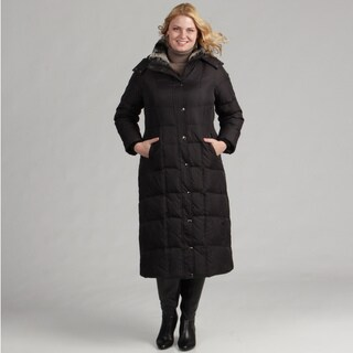 London Fog Women's Plus Size Long Down Coat