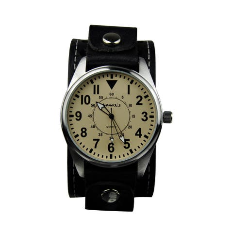 Nemesis Men's Leather Strap Watch