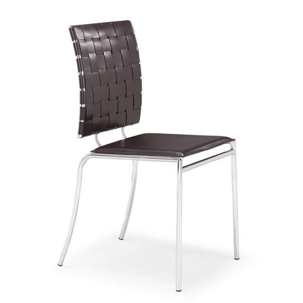 Criss Cross Espresso Dining Chair (Set of 4)