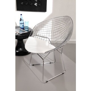 Net White Steel Dining Chair (Set of 2)