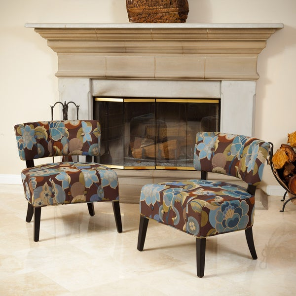 Jacqueline Floral Accent Chairs (Set of 2) by Christopher Knight Home