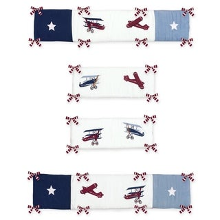 Link to Sweet Jojo Designs Vintage Aviator Collection Baby Crib Bumper Pad Similar Items in Bumper Pads