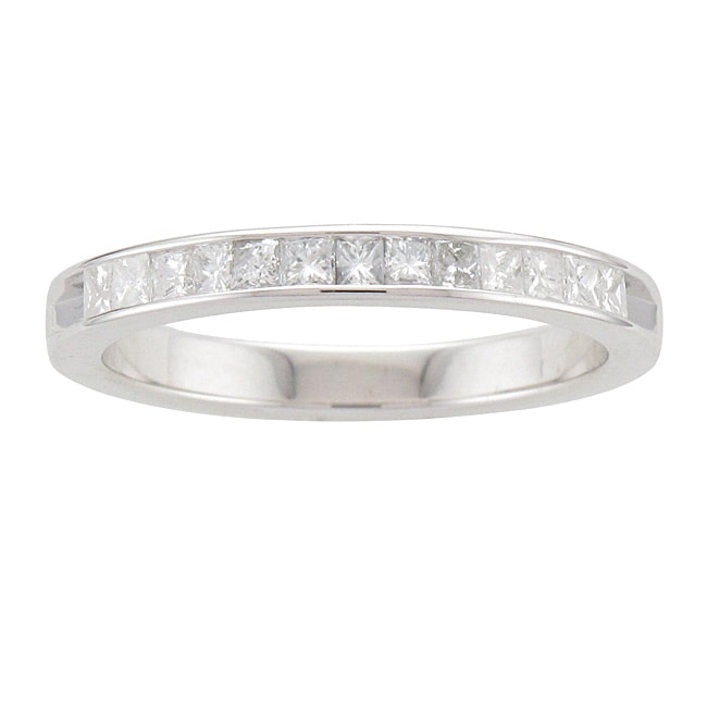 Unending Love  Sterling Silver 3/8ct TDW Princess-cut Diamond Band (I-J, I2-I3)