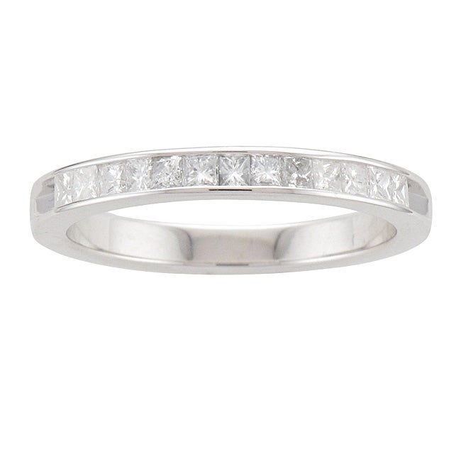 Unending Love  Sterling Silver 3/8ct TDW Princess-cut Diamond Band (I-J, I2-I3) - Thumbnail 0