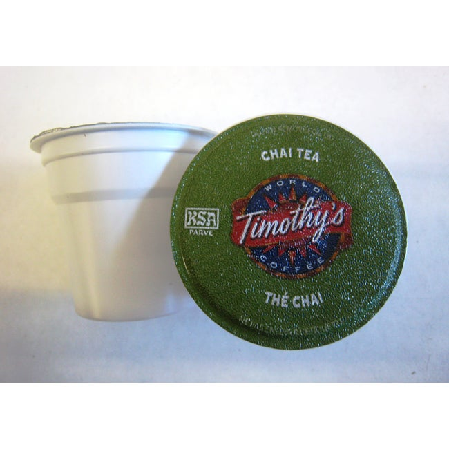 Timothy's World Chai Tea for Keurig Brewers (Pack of 96)