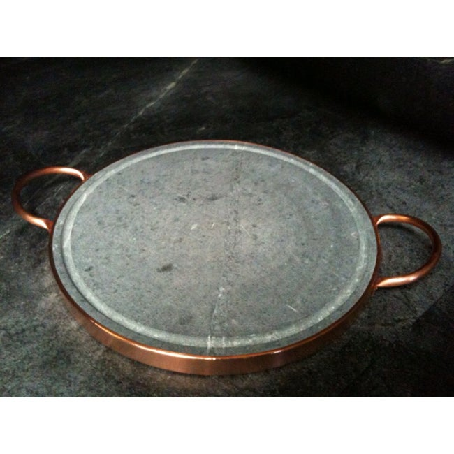 12-Inch Round Grilling Stone With Copper Handles (Brazil)