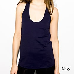 American Apparel Women's Navy Jersey Racer Back Tank Top (XS Only)