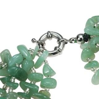Handmade Gemstone Flowing Waterfall Necklace (Philippines)
